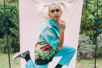 Sky Thomas, aka Sojugang, launches her first collection of Sawft streetwear on March 6.