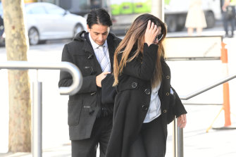 Alvaro (left) and Josie Gonzalez at Victoria's County Court in 2019.