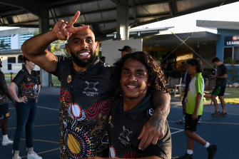 Josh Addo-Carr took time out on Monday for a visit to Cowboys House.