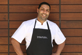Chef Vince Ieraci at his Pyrmont cafe.