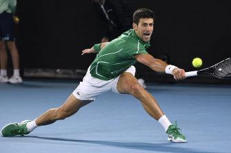 Novak Djokovic won the Australian Open men's singles final this year.