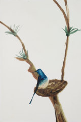 Blue Bird, 1984, by Sidney Nolan. The painting was a favourite of his widow Mary. She kept it on the wall in her bedroom.