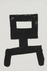 The undated 'Kelly', a work on paper by Sidney Nolan, is among those to be auctioned on June 26.