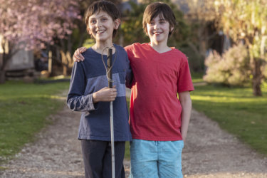 When a tumour claimed Jarrah's remaining eye, Mathilde became his sight