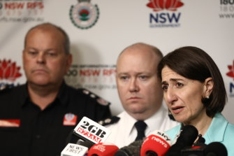 NSW Premier Gladys Berejiklian and Rural Fire Service commissioner Shane Fitzsimmons warn that the worst of the bushfire emergency may not be over.