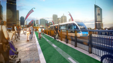 The new plan will see an entire lane closed to allow for a pedestrian and cycle lane across Victoria Bridge.