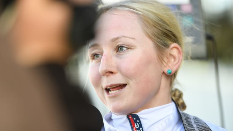 Brooke Sweeney is thrilled to get the chance to ride in the $1.3m Kosciuszko.