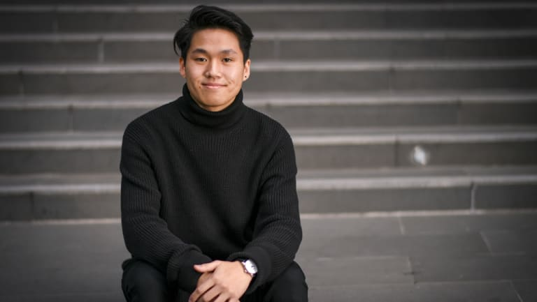 Jonathan Huang is studying commerce at the University of Melbourne