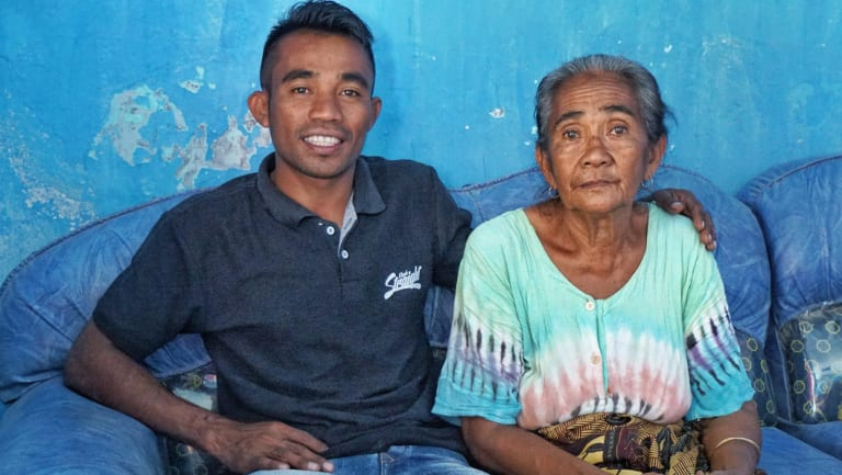 Abdul Rayan reunited with his mother Siti Rudi.