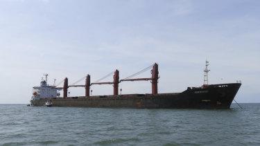 The North Korean cargo ship Wise Honest.