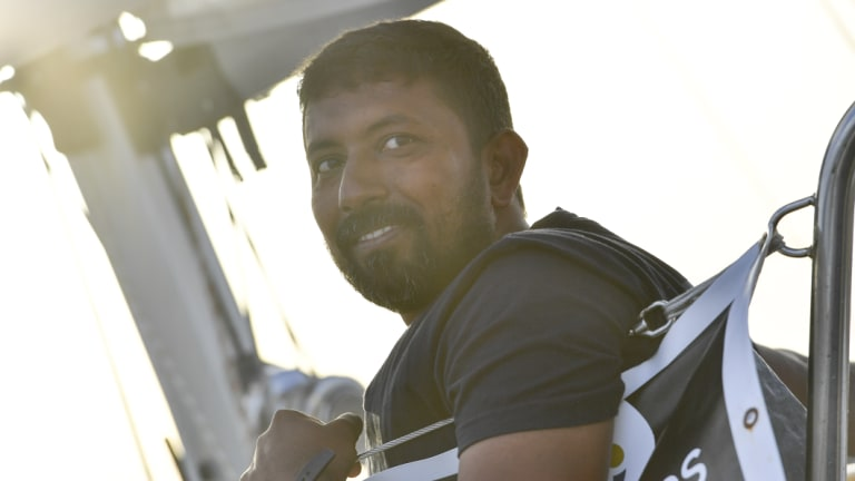 Abhilash Tomy photographed off Lanzarote, Canaries, in June.