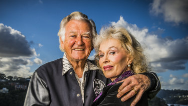 """Blanche d'Alpuget, whom Bob Hawke described as """"the love of my life"""" together in 2003."""
