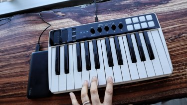If you're low on space or need to travel with your keyboard, a smaller model like the iRig Keys I/O should do the trick.