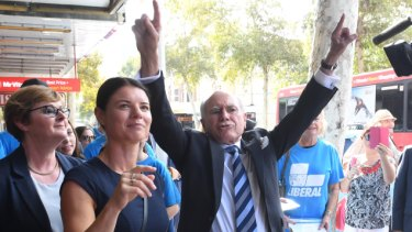 'She's the future': John Howard anoints candidate he's just met