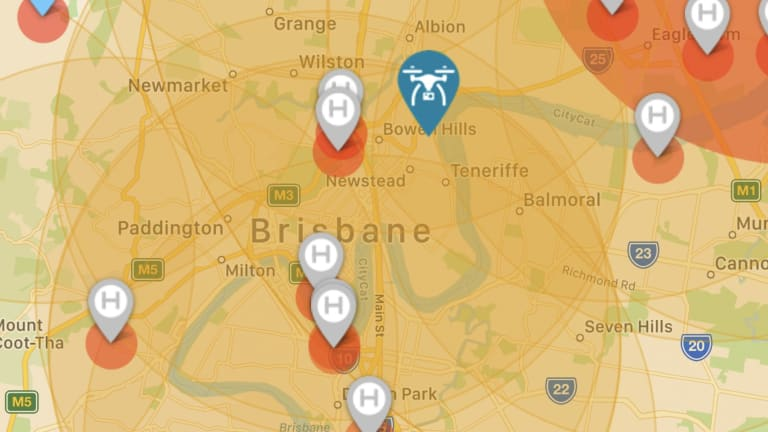 Most of Brisbane seems to be a no-go zone for drones under100 grams because of restrictions around helicopter pads.