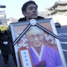 Throngs gather near Japan embassy to mourn South Korean sex slave