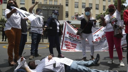 Peru doctors on hunger strike over pandemic work conditions