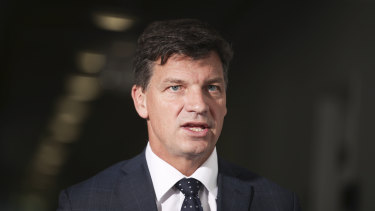 "Energy Minister Angus Taylor says the government can ""meet and beat"" its emissions targets commitments."