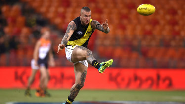 Dustin Martin was Richmond's best in their loss to Greater Western Sydney.
