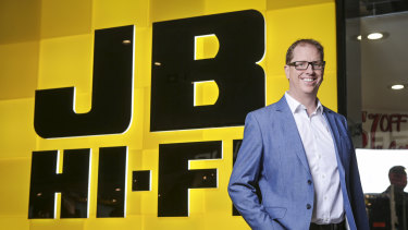 "JB Hi-Fi group chief executive Richard Murray has traded ""cautious optimism"" for full-blown confidence."