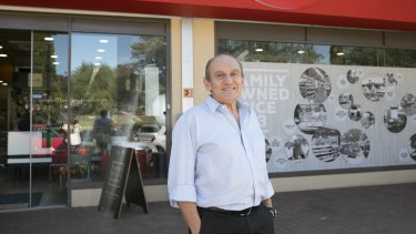 Ainslie IGA's Manuel Xyrakis outside the store which has been part of the IGA chain since 1993.