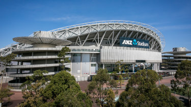 The upgrade of Stadium Australia is under review.