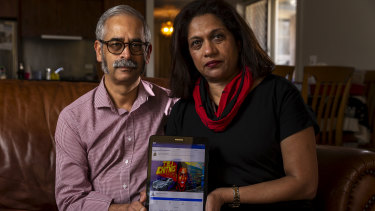 Jayant (left) and Reva Chitnis' son Tej went missing two years ago. Under a new initiative, Facebook's facial recognition software could help locate missing people, like Tej.