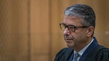 Crown prosecutor Mark Zarifeh at the sentencing hearing for Christchurch mosque gunman Brenton Tarrant on Thursday.