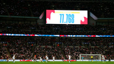The crowd figure goes up at Wembley.