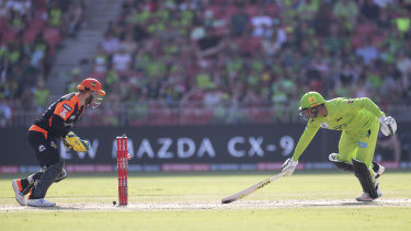 Usman Khawaja's run-out made life difficult for the Thunder.