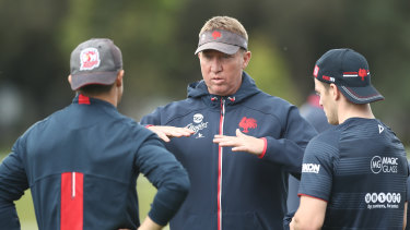 Roosters coach Trent Robinson has always got a plan.
