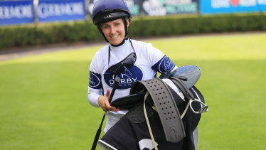 Rachel King after her win aboard Greysful Glamour.