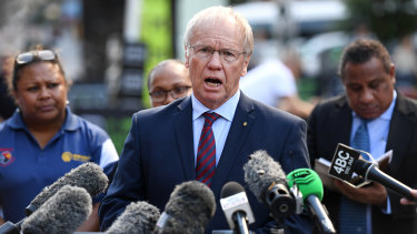 Passing the buck: Peter Beattie has deferred responsibility for the stand-down rule to Todd Greenberg.