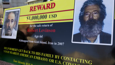 An FBI poster of the reward offered for information on former FBI agent Robert Levinson.