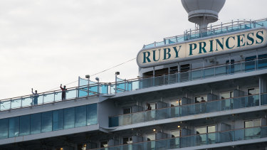 The Ruby Princess cruise ship, which was the source of hundreds of Australia's  Coronavirus cases.