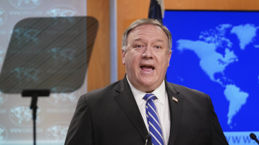 US Secretary of State Mike Pompeo took aim at China for threatening economic retaliation against Australia.