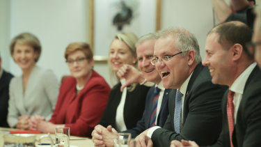 The first cabinet meeting under Prime Minister Scott Morrison.