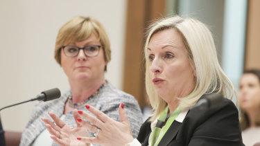 Australia Post chief executive Christine Holgate at Senate estimates in March.