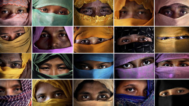 Some of the Rohingya Muslim women who said they were raped by members of Myanmar's armed forces.