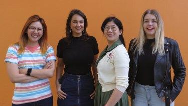Angharad Yeo, Rae Johnston, Amanda Yeo and Tegan Jones of Queens of the Drone Age.