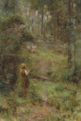 Frederick McCubbin's What the Little Girl Saw in the Bush, 1904.