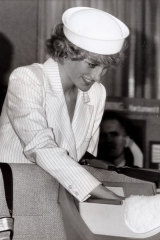 Princess Diana at the Royal Children's Hospital in Melbourne.