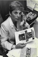 Ita Buttrose, as the chairwoman of the national advisory committee on AIDS in 1987.