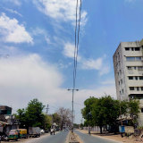 The skies in Vadodara, India, taken by Raju Baraiya for Penelope Cain's CLEAR BLUE SKIES collaborative art project.