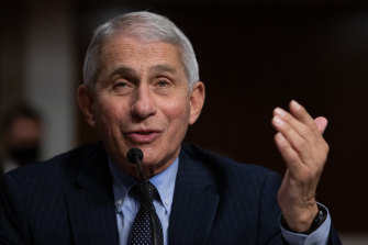 Dr Anthony Fauci, one of the US' top infectious diseases experts.