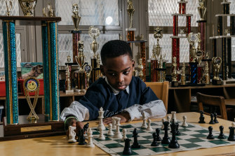 Tanitoluwa Adewumi, pictured at the age of 8, is now a chess master.