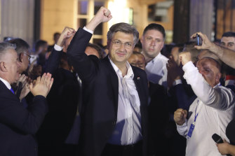 Croatian Prime Minister Andrej Plenkovic celebrates another election win.