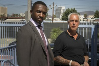 Jamie Hector and Titus Welliver in Bosch.