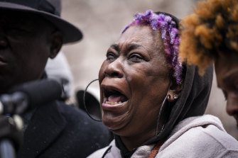 Daunte Wright's grandmother Angie Golson mourns the loss of her 20-year-old grandson in Brooklyn Center on Tuesday.