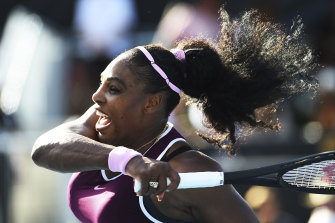 Not done yet: Serena Williams in action.